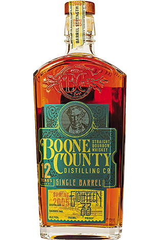 Boone County 12 Yr Bourbon sales sheet